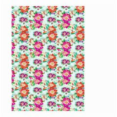 Floral Flower Pattern Seamless Small Garden Flag (Two Sides)