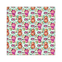Floral Flower Pattern Seamless Acrylic Tangram Puzzle (6  x 6 )