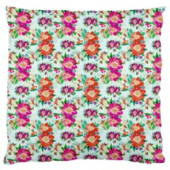 Floral Flower Pattern Seamless Large Cushion Case (one Side)