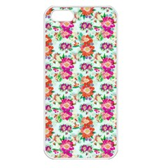 Floral Flower Pattern Seamless Apple iPhone 5 Seamless Case (White)