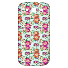 Floral Flower Pattern Seamless Samsung Galaxy S3 S III Classic Hardshell Back Case