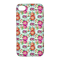 Floral Flower Pattern Seamless Apple iPhone 4/4S Hardshell Case with Stand