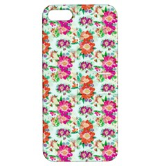 Floral Flower Pattern Seamless Apple iPhone 5 Hardshell Case with Stand