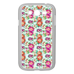 Floral Flower Pattern Seamless Samsung Galaxy Grand DUOS I9082 Case (White)