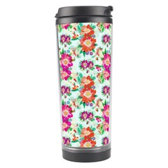 Floral Flower Pattern Seamless Travel Tumbler