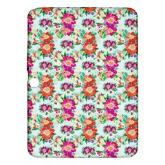 Floral Flower Pattern Seamless Samsung Galaxy Tab 3 (10.1 ) P5200 Hardshell Case