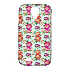 Floral Flower Pattern Seamless Samsung Galaxy S4 Classic Hardshell Case (pc+silicone)