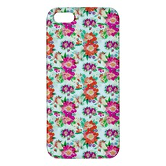 Floral Flower Pattern Seamless iPhone 5S/ SE Premium Hardshell Case