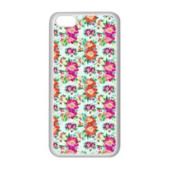 Floral Flower Pattern Seamless Apple Iphone 5c Seamless Case (white)