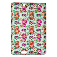 Floral Flower Pattern Seamless Amazon Kindle Fire HD (2013) Hardshell Case