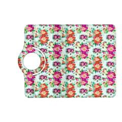 Floral Flower Pattern Seamless Kindle Fire HD (2013) Flip 360 Case
