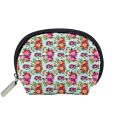 Floral Flower Pattern Seamless Accessory Pouches (Small)