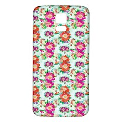 Floral Flower Pattern Seamless Samsung Galaxy S5 Back Case (white)