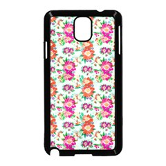 Floral Flower Pattern Seamless Samsung Galaxy Note 3 Neo Hardshell Case (Black)