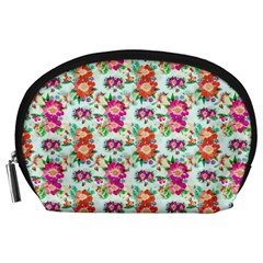 Floral Flower Pattern Seamless Accessory Pouches (Large)