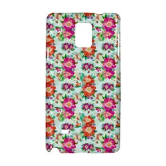 Floral Flower Pattern Seamless Samsung Galaxy Note 4 Hardshell Case