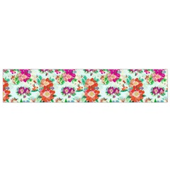 Floral Flower Pattern Seamless Flano Scarf (Small)