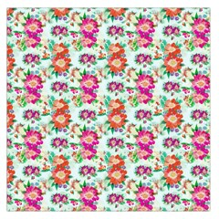 Floral Flower Pattern Seamless Large Satin Scarf (Square)