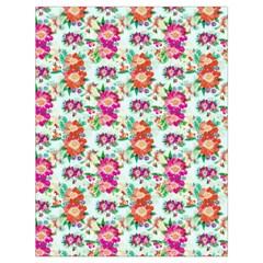 Floral Flower Pattern Seamless Drawstring Bag (large)
