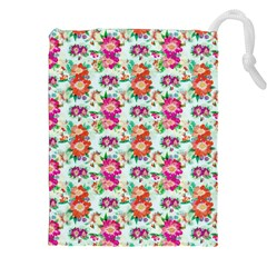 Floral Flower Pattern Seamless Drawstring Pouches (xxl)