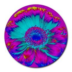 Retro Colorful Decoration Texture Round Mousepads