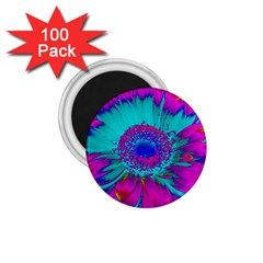 Retro Colorful Decoration Texture 1.75  Magnets (100 pack)