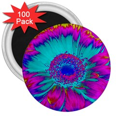 Retro Colorful Decoration Texture 3  Magnets (100 pack)