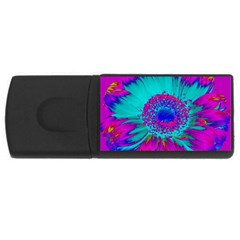 Retro Colorful Decoration Texture USB Flash Drive Rectangular (2 GB)
