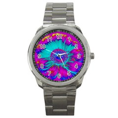 Retro Colorful Decoration Texture Sport Metal Watch