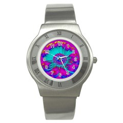 Retro Colorful Decoration Texture Stainless Steel Watch