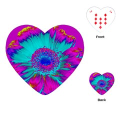 Retro Colorful Decoration Texture Playing Cards (Heart)