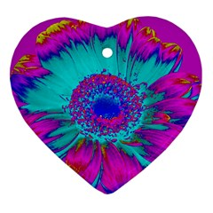 Retro Colorful Decoration Texture Heart Ornament (two Sides)
