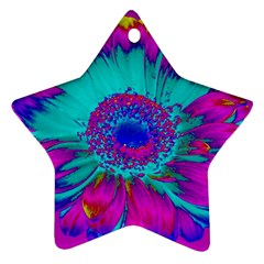 Retro Colorful Decoration Texture Star Ornament (two Sides)