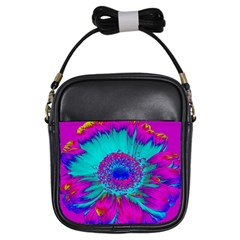 Retro Colorful Decoration Texture Girls Sling Bags