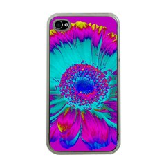Retro Colorful Decoration Texture Apple iPhone 4 Case (Clear)