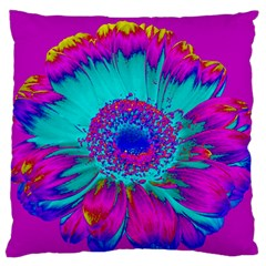 Retro Colorful Decoration Texture Large Flano Cushion Case (one Side)