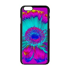 Retro Colorful Decoration Texture Apple Iphone 6/6s Black Enamel Case