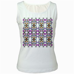 Floral Ornament Baby Girl Design Women s White Tank Top