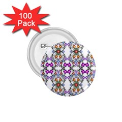 Floral Ornament Baby Girl Design 1 75  Buttons (100 Pack)