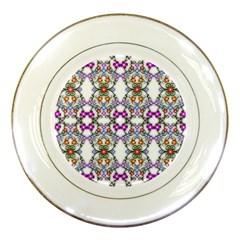 Floral Ornament Baby Girl Design Porcelain Plates
