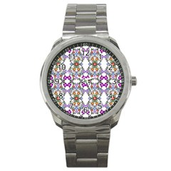 Floral Ornament Baby Girl Design Sport Metal Watch