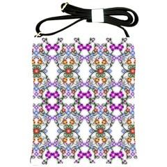 Floral Ornament Baby Girl Design Shoulder Sling Bags