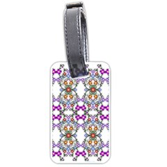 Floral Ornament Baby Girl Design Luggage Tags (one Side)