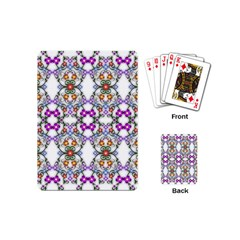 Floral Ornament Baby Girl Design Playing Cards (mini)
