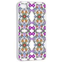 Floral Ornament Baby Girl Design Apple iPhone 4/4s Seamless Case (White)