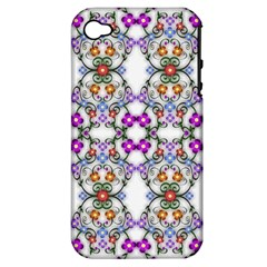 Floral Ornament Baby Girl Design Apple iPhone 4/4S Hardshell Case (PC+Silicone)