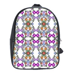 Floral Ornament Baby Girl Design School Bags (XL)