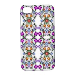 Floral Ornament Baby Girl Design Apple iPhone 4/4S Hardshell Case with Stand