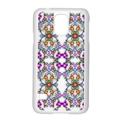 Floral Ornament Baby Girl Design Samsung Galaxy S5 Case (White)
