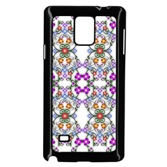 Floral Ornament Baby Girl Design Samsung Galaxy Note 4 Case (Black)